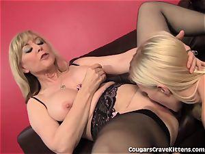 Nina Hartley Gives nubile Her first g/g ejaculation
