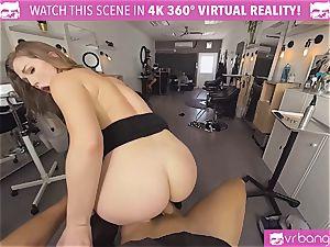 VRBangers.com Hairdresser Ella boned firm and facial cumshot