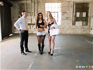 Brandi love lets ho-bo Abbey Lee Brazil plow her man