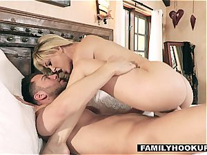 FamilyHookups - super-steamy light-haired Stepmom tears up Her Stepson