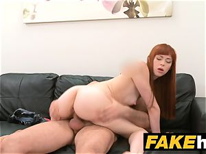 faux Agent creampie for new ginger-haired american model