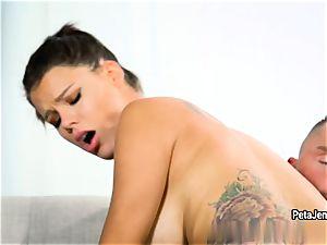 Peta Jensen plumbs her explore buddy's lengthy huge salami