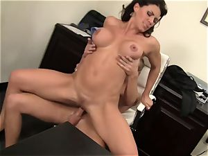 WANKZ- crazy mummy boss Gets drilled Until She drizzles