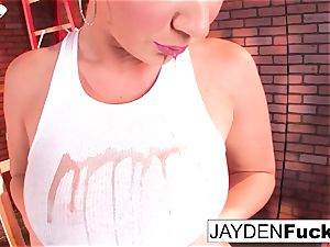 uber-sexy Jayden Jaymes Plays With Her giant udders