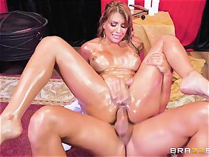 Oiley Mercedes Carrera plowed humungous time by fat chisel