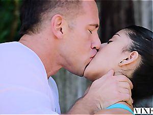 warm Latina honey pulverizes her sport trainer