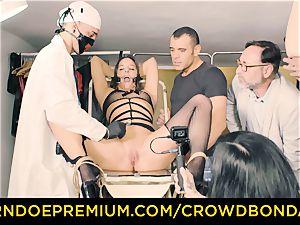 CROWD restrain bondage enslaved Amirah Adara very first time sadism & masochism