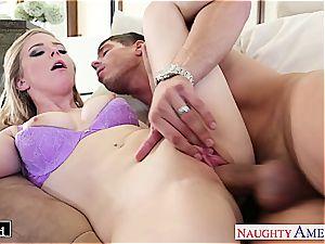 Ravishing Penny Pax slips his firm spunk-pump between her puss lips