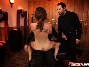 horny Jade Nile in dog collar getting lashed