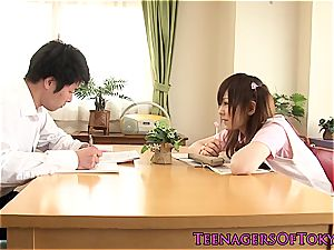 insatiable asian student nasty for her counterparts hefty shaft