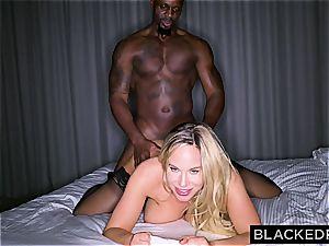 massive breasted foolish housewife gets slain by a large dark-hued impaler