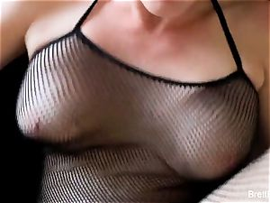 pov fucking act with huge-boobed ash-blonde Brett Rossi