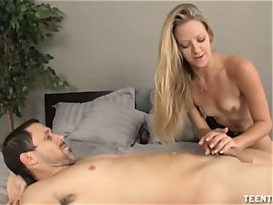 Sydney Cross Is sexually aroused To suggest A handjob