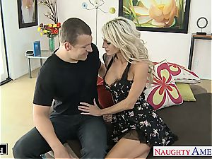 handsome Sarah Jessie smooched and pounded decently