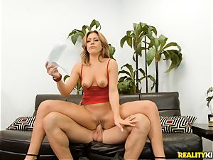 Mia joy button rammed in her moist vulva