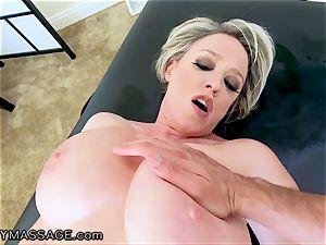 FantasyMassage milf Dee Williams point of view splatter massage
