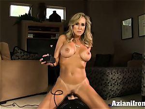 Brandi enjoy rides the sybian naked