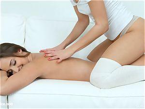 sensual lezzies Amirah Adara and Suzy Rainbow