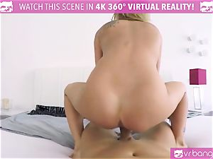VR PORN-Sexy light-haired Angel Piaff have fun with her vagina
