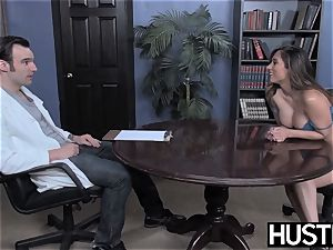big-chested Reena Sky earns facial cumshot after godly pipe riding