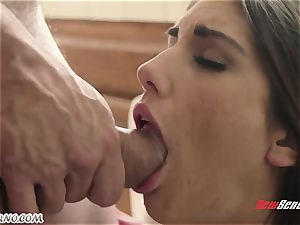 stud pummels the wifey of his junior brother August Ames