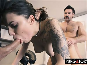 PURGATORY I let my wife screw two fellows in front of me