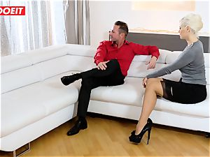 mommy and Stepdaughter take superb care of their Step daddy