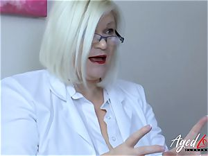 AgedLovE Lacey Starr buxom ash-blonde Mature gonzo