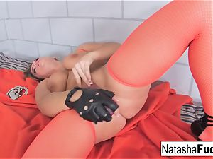 chesty Natasha lovely demonstrates Off Her epic forms