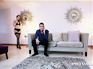 Private.com Blue Angel plumbs in a steamy undergarments
