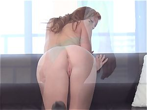 redhead Alex Tanner licked out at her audition