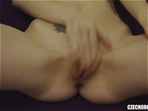blonde Czech woman Plays with beaver