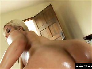 Oily Bridgette B butt big black cock plowed in this HD vid
