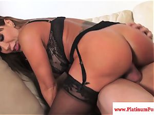 Ava Devine does double penetration during a three-way