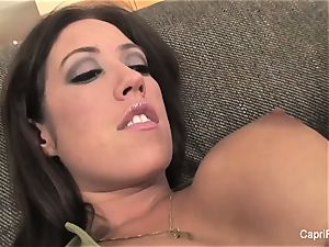 busty brunette Capri gets a boxing lesson to remember