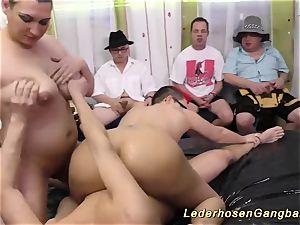 german slimy groupsex tear up fuck-fest