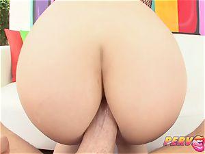PervCity crimson Head interracial anal three-way