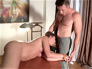 obese school female in the form gets booty-fucked by the tutor