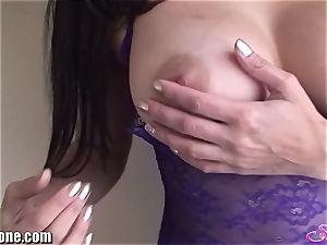 SunnyLeone Sunny Leone in mind-blowing purple lingerie