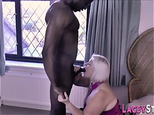 round grandma rides penis