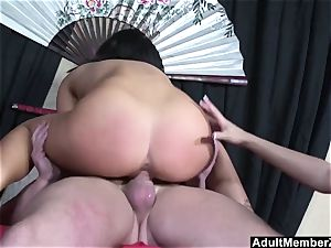 successful fellow three-way with asian mistresses
