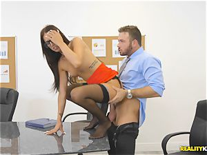 Office drill with the assistant Aubrey Rose who happens to be the bosses daughter