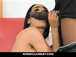 SheWillCheat - sizzling wife With massive Rack enjoys dark-hued boner