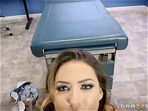 sizzling sweetie Melissa Moore plumbed by medic Keiran Lee