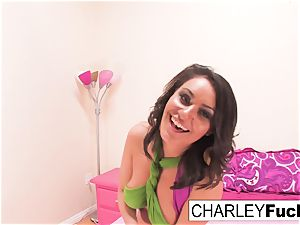 chesty Charley chase determined To play with herself