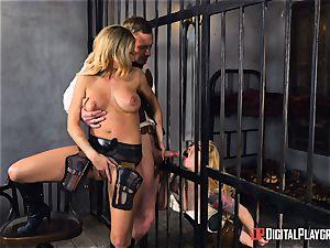 Western snatch smashing with Jessa Rhodes and Misha Cross