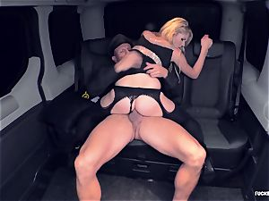 FuckedInTraffic - blonde twat giving a blowjob to her driver