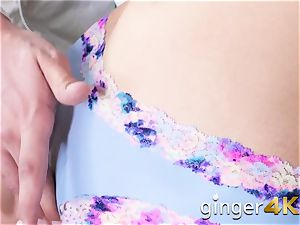 sandy-haired Ava plays around with her beau before getting humped