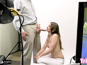 Jillian Janson gets tricked into boning on a audition