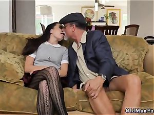 daddy sexually abused me railing the senior man-meat!